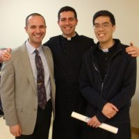 Postulants for the Novitiate of the Toronto Oratory, Jason Flammini, Paul Griffiths, and Christopher Huynh