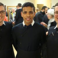 Students from the Brisbane Oratory-in-Formation, Br Francis King, Br Shawn Murphy, and Br Conor Power
